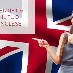 Certificazioni lingua inglese B2 e C1