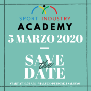 Sport Industry Academy Salerno open day marzo 2020